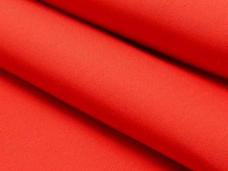 Toile de soie doupionnée rouge