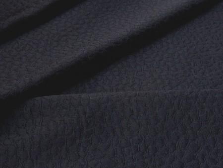 Piqué de coton bleu marine