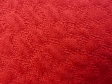 Piqué de coton rouge