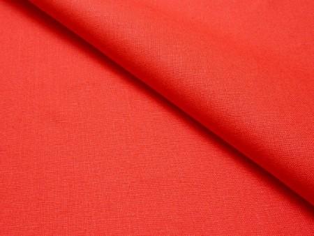 Toile de lin italien rouge vermillon