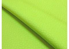 Piqué de coton vert printemps