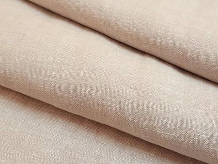 Toile de lin naturel beige rosé