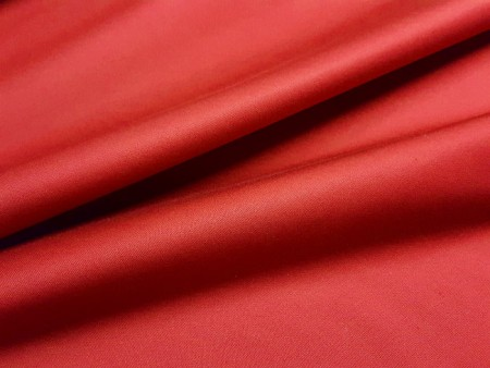 Satin de coton stretch rouge cinabre