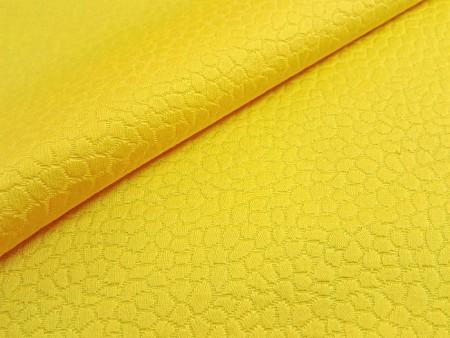 Piqué de coton jaune d'or