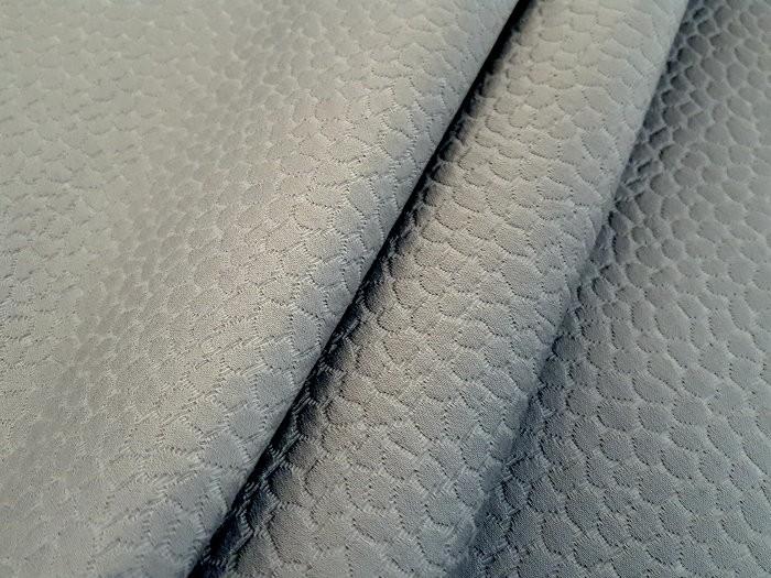 Piqué de coton gris fer