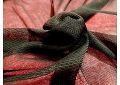 Tulle de soie extensible noir