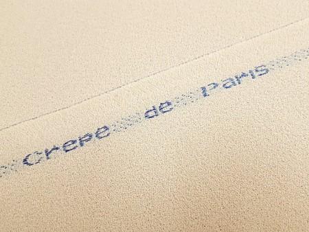 Crêpe de Paris beige coquille d'oeuf