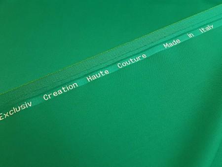 Pure laine Haute-Couture vert smaragdin