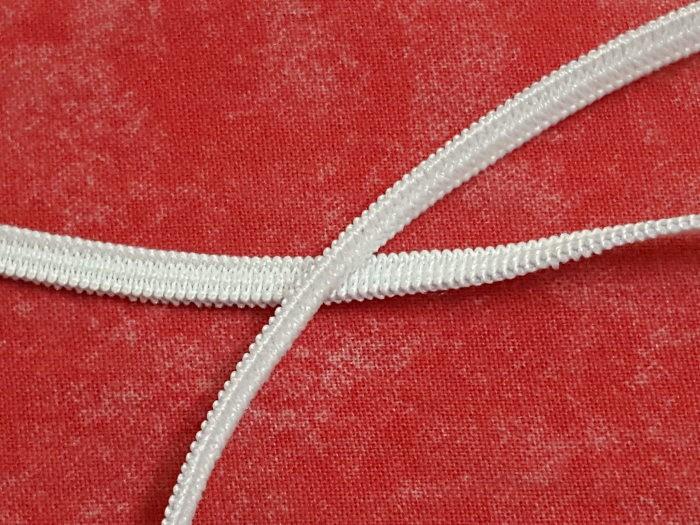 Elastique blanc 4mm