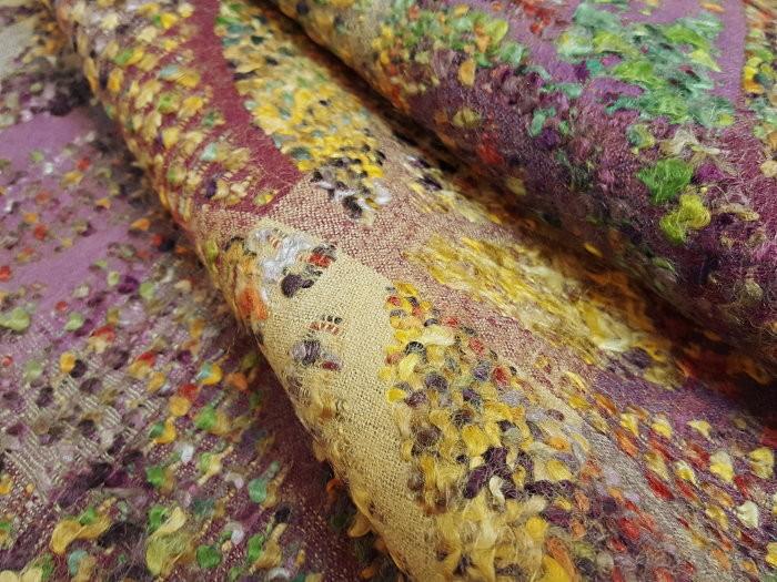 Damassé de laine fantaisie