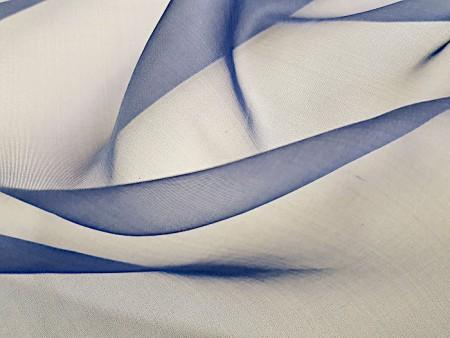 Organza de soie bleu de Chine