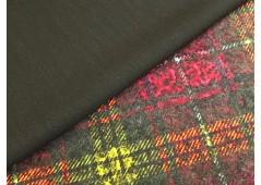 Tissu double face pour manteau fushia