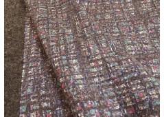 Tissu double face bleu pour manteau
