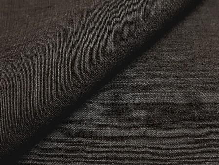 Toile lin et soie noire