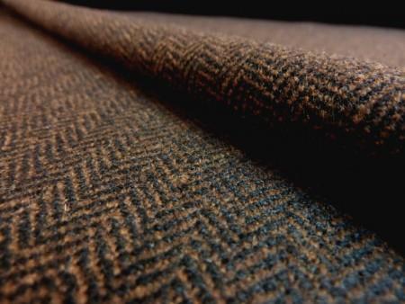 Chevron bicolore brun et noir