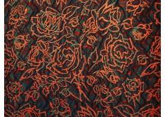 Coupon Broché orange et vert