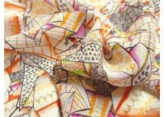 Crêpe de soie imprimé mosaïque