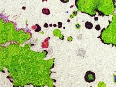 Damassé de coton imprimé Eclats