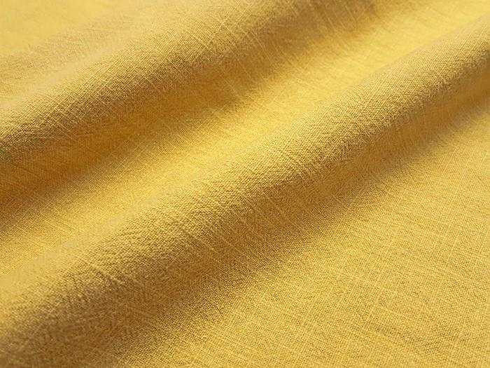 Lin lavé jaune safran