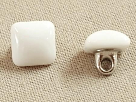 Bouton de verre blanc 10 mm