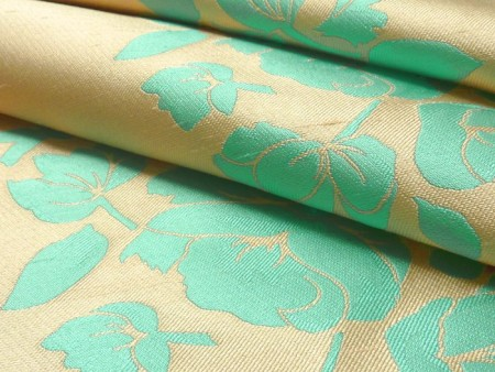Damassé de soie turquoise