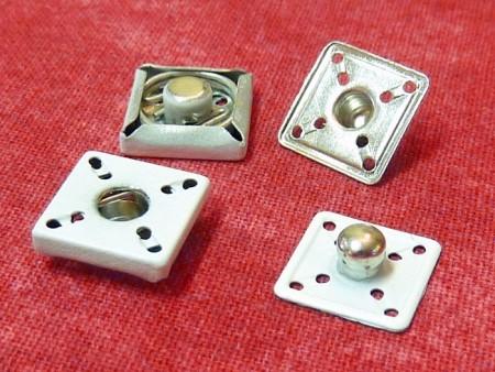 Bouton pression métallique blanc 15mm