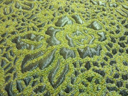 Broché en camaïeux de verts