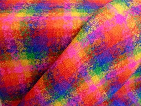 Ecossais coloré en laine mohair