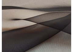 Organza de soie noir