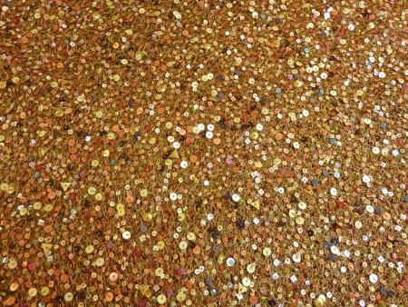 Résille pailletée cuivre coloré
