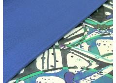 Piqué de coton bleu cobalt