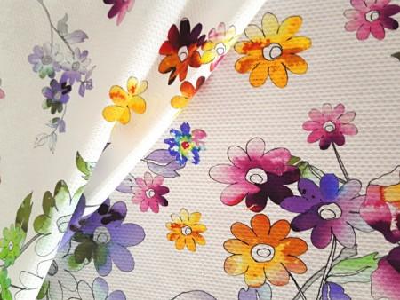 Piqué de coton imprimé fleurs d'été