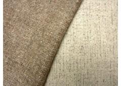 Tweed de laine double- face écru et beige